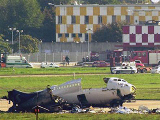 wreckage of MD87 SAS at Linate
