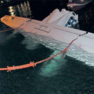Tuninter - ATR72-200 (TS-LBB) rescued wing