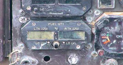 Tuninter - ATR72-200 (TS-LBB) - Fuel Quantity Indicator (FQI)