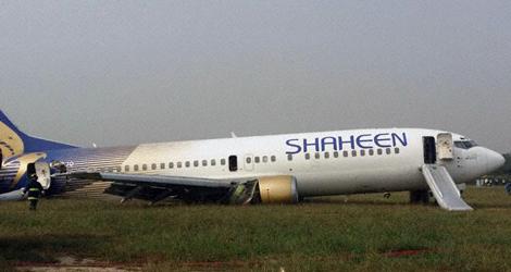 Shaheen Boeing B737-400 (AP-BJO) flight NL142