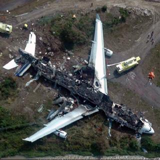 wreckage of Air France flight AF358 - Airbus - A340-313 (F-GLZQ)