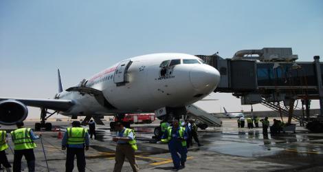EGYPT AIR - BOIENG B777-200 (SU-GBP) flight MS667
