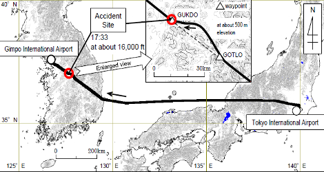 JAPAN AIRLINES - BOEING B767-300 (JA645J) flight JAL93